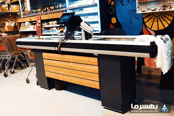 میز چک اوت و انواع صندوق و کانتر فروشگاهی