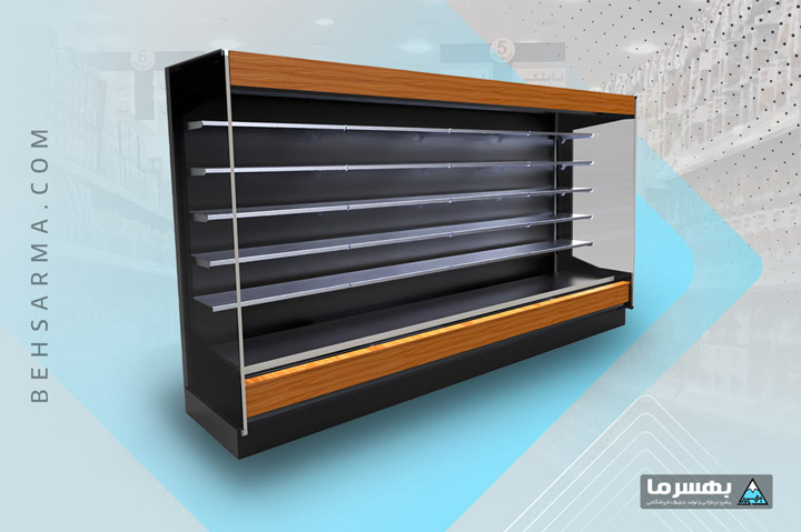 Standing Refrigerator Air Curtain Central Engine Room